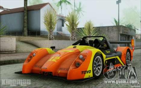Radical SR3 RS 2009 for GTA San Andreas bottom view