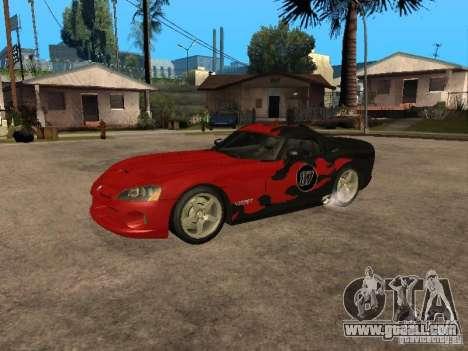 Dodge Viper for GTA San Andreas side view