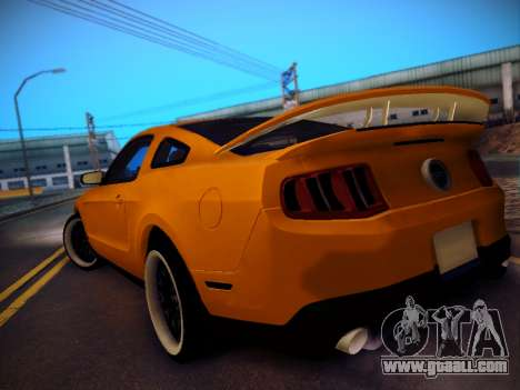 Ford Mustang GT 2010 Tuning for GTA San Andreas back left view