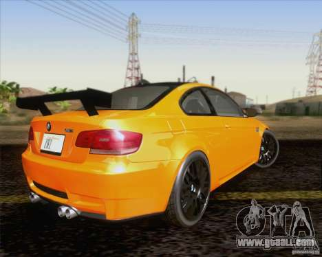 BMW M3 GT-S Fixed Edition for GTA San Andreas back view