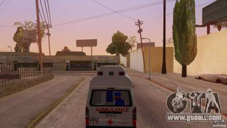 Toyota Hiace Philippines Red Cross Ambulance for GTA San Andreas back left view