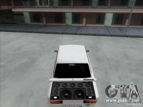 VAZ 2106 BPAN for GTA San Andreas inner view