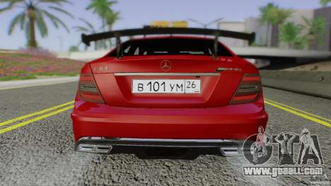 Mercedes Benz C63 AMG Black Series 2012 for GTA San Andreas side view