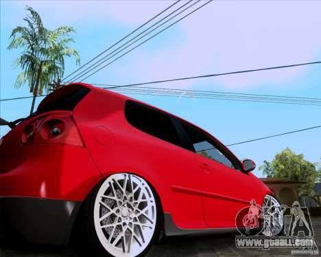 Volkswagen Golf MK5 GTI Stance for GTA San Andreas back left view