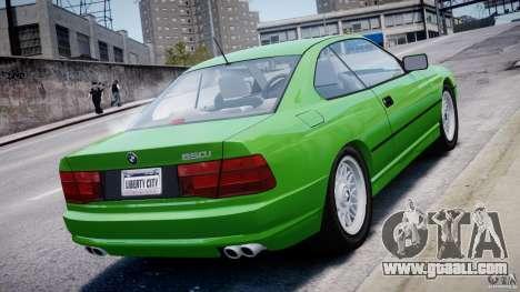 BMW 850i E31 1989-1994 for GTA 4 engine