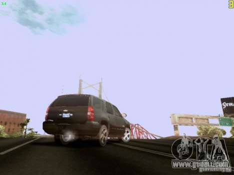 Chevrolet Tahoe 2009 Unmarked for GTA San Andreas back view