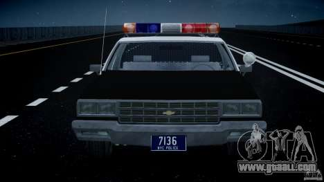 Chevrolet Impala Police 1983 [Final] for GTA 4 interior