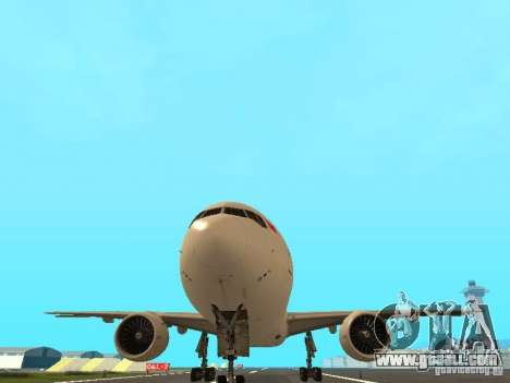 Boeing 777-200 Singapore Airlines for GTA San Andreas inner view