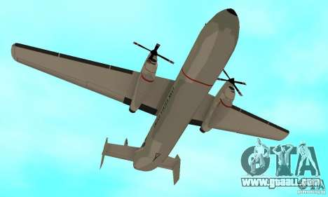 C-2 Greyhound for GTA San Andreas inner view