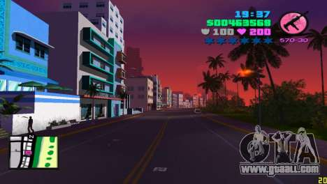 Square radar for GTA Vice City second screenshot
