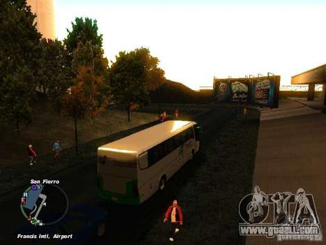 Bus Kramat Djati for GTA San Andreas right view