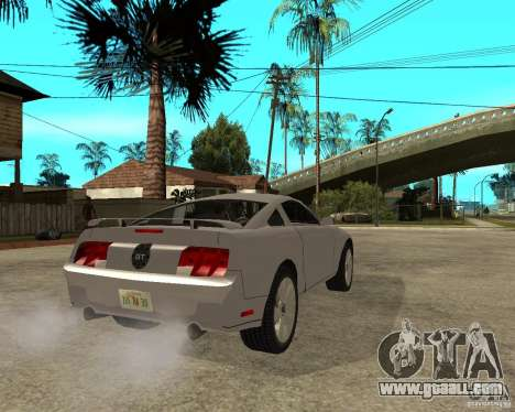 Ford Mustang GT 2005 for GTA San Andreas back left view