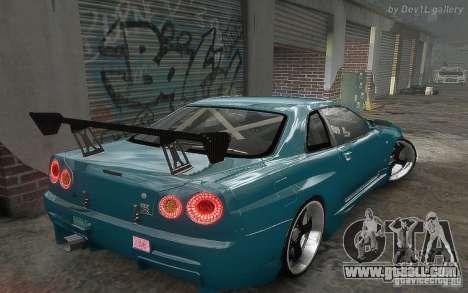 Nissan SkyLine BNR34 for GTA 4 inner view