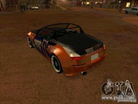 Nissan 350Z NOS Energy Drink for GTA San Andreas right view
