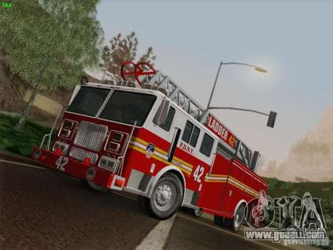 Seagrave Ladder 42 for GTA San Andreas back left view