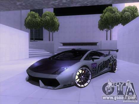 Lamborghini Gallardo Racing Street for GTA San Andreas upper view