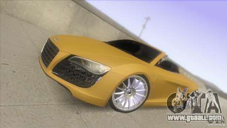 Audi R8 5.2 FSI Spider for GTA San Andreas
