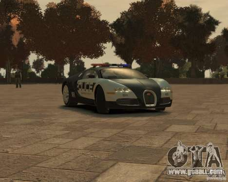 Bugatti Veyron Police [EPM] for GTA 4 left view