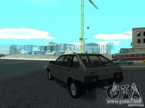 VAZ 2109 CR v. 2 for GTA San Andreas back left view