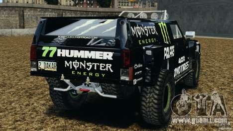 Hummer H3 raid t1 for GTA 4 back left view