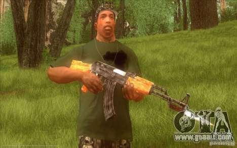 Kalashnikov HD for GTA San Andreas fifth screenshot