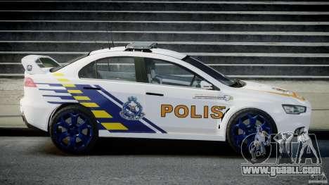 Mitsubishi Evolution X Police Car [ELS] for GTA 4 left view