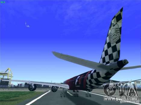 Airbus A340-600 Etihad Airways F1 Livrey for GTA San Andreas back left view