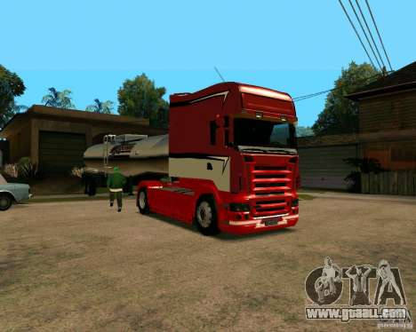 Scania TopLine for GTA San Andreas left view