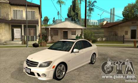 Mercedes-Benz C63 AMG 2010 for GTA San Andreas side view