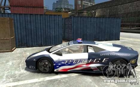 Lamborghini Reventon Police Stinger Version for GTA 4 left view