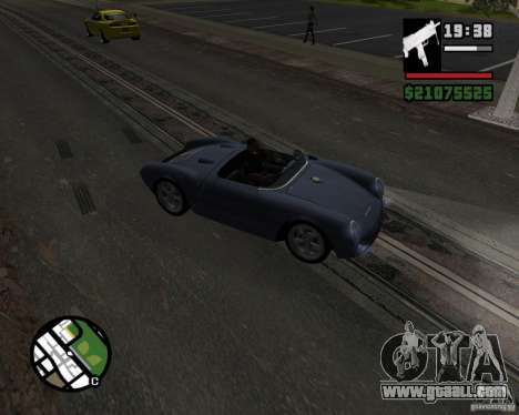 Porsche 550 for GTA San Andreas inner view
