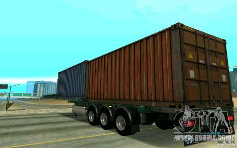 Trailer Schmitz for GTA San Andreas left view