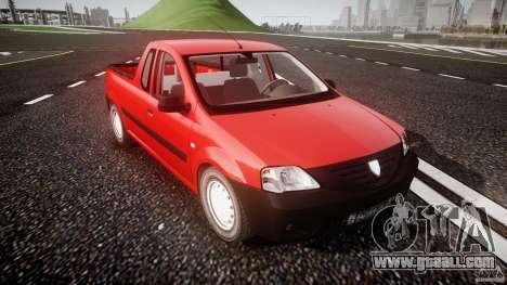 Dacia Logan Pick-up ELIA tuned for GTA 4 inner view
