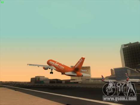 Airbus A320-214 EasyJet 200th Plane for GTA San Andreas side view