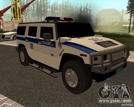 Hummer H2 DPS for GTA San Andreas back view