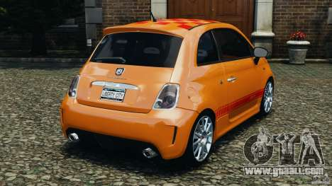 Fiat 500 Abarth for GTA 4 back left view