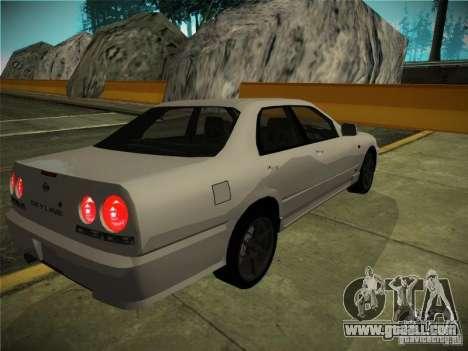 Nissan Skyline ER34 for GTA San Andreas back left view