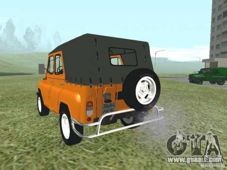 UAZ 31512 for GTA San Andreas back left view