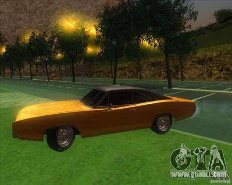 Dodge Charger RT 1968 for GTA San Andreas inner view