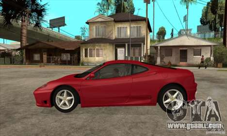 Ferrari 360 Modena for GTA San Andreas left view