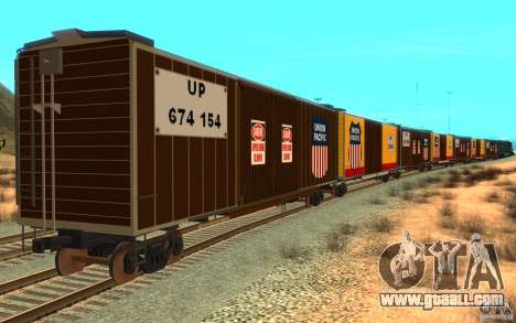 Union Pacific Reefer for GTA San Andreas right view