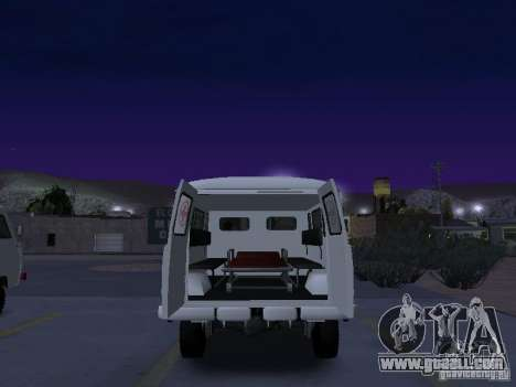 UAZ 450А for GTA San Andreas back view