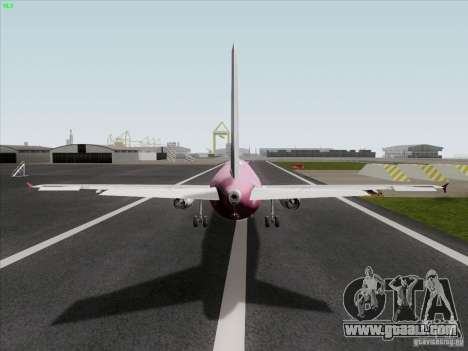 Airbus A319 Spirit of T-Mobile for GTA San Andreas back left view