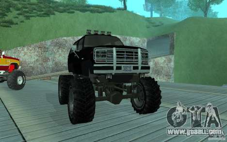 Ford Bronco Monster Truck 1985 for GTA San Andreas left view