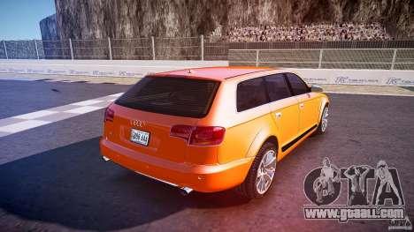 Audi A6 Allroad Quattro 2007 wheel 2 for GTA 4 upper view