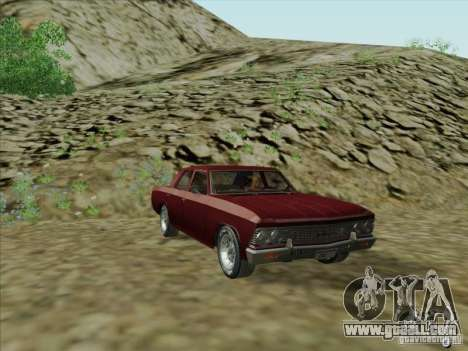 Chevrolet Chevelle for GTA San Andreas back left view