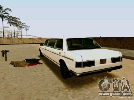 Admiral Limo for GTA San Andreas back left view