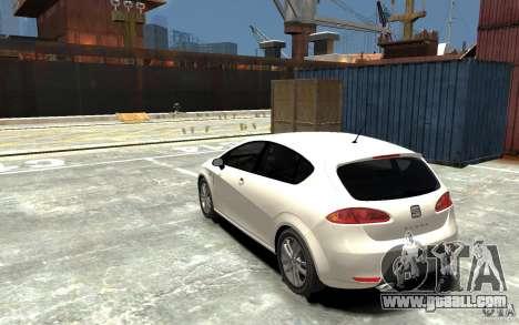 Seat Leon Cupra v.2 for GTA 4 back left view