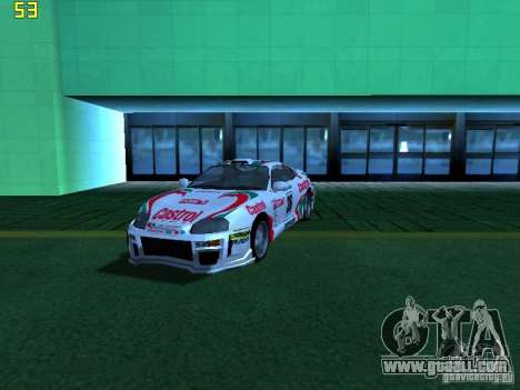 Toyota Supra for GTA San Andreas upper view