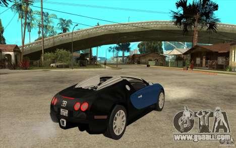 Bugatti Veyron Gran Sport 2011 for GTA San Andreas right view
